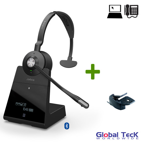 Jabra Engage 75 Wireless Mono Headset with Remote Lifter