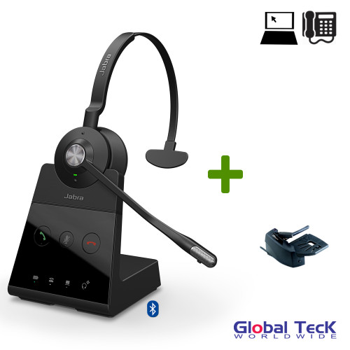 Jabra Engage 65 Wireless Mono Headset with Remote Lifter