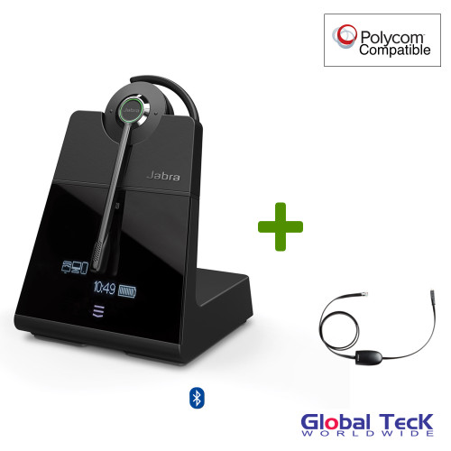 Polycom Compatible Jabra Engage 75 Wireless Convertible Headset