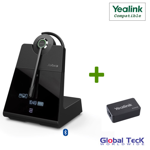 Yealink Compatible Jabra Engage 75 Wireless Headset Bundle with EHS Adapter