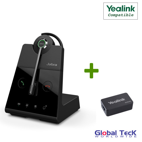 Yealink Compatible Jabra Engage 65 Wireless Convertible Headset with EHS Adapter