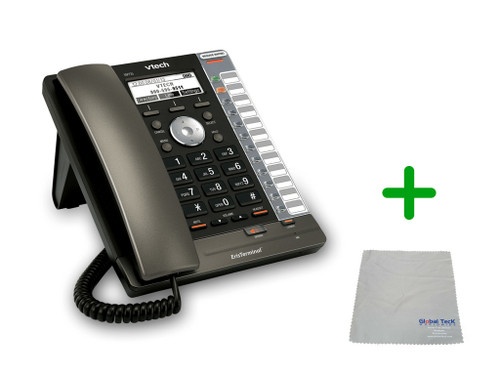 Vtech VSP725 | 3 SIP Acocunt Office Desk Phone | VoIP, PoE, HD Wideband Audio, 3-lines, Speakerphone, 2-port Ethernet | Up to 3 SIP Accounts | Business Office Desk Phone | Requires SIP/VoIP Service (VSP725)