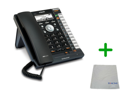 Vtech VSP726 | 4 SIP Account Office Desk Phone | VoIP, PoE, HD Wideband Audio, 4-lines, Speakerphone, 2-port Ethernet | Up to 4 SIP Accounts | Business Office Desk Phone | Requires SIP/VoIP Service (VSP726)
