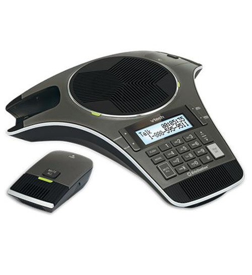 Vtech VCS702 | 2 Wireless Mic Speakerphone | HD Wideband Audio, 2-lines, Conference Phone | Business Office Conference Phone (VCS702)