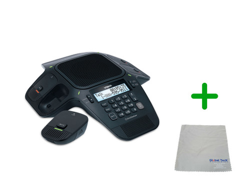 Vtech VCS704 | 4 Wireless Mic Speakerphone | HD Wideband Audio, 4-lines, Conference Phone | Business Office Conference Phone (VCS704)
