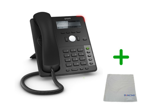 SNOM D712 IP Telephone   VoIP, PoE, HD Wideband Audio, 4 Lines, Speakerphone, 2-port Ethernet, and 3.2 inch Display   Up to 4 SIP Accounts   Business Office Desk Phone   Requires SIP/VoIP Service (D712)