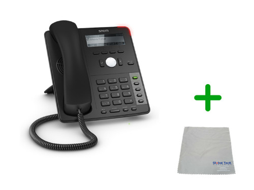 SNOM D725 | 12 SIP Account Office LCD Desk Phone |VoIP, PoE, HD Wideband Audio, 12 Lines, 2-port 1 Gigabit Ethernet, | Up to 12 SIP Accounts, | Business Office Desk Phone | Requires SIP/VoIP Service (D725)
