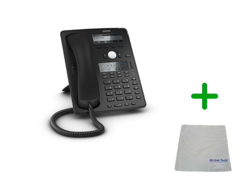 SNOM D745 | 12 SIP Account Office USB Desk Phone |VoIP, PoE, HD Wideband Audio, 12 Lines, 2-port 1 Gigabit Ethernet,Dual display | Up to 12 SIP Accounts, | Business Office Desk Phone | Requires SIP/VoIP Service (D745)