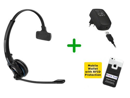 Sennheiser Bluetooth MB PRO1 Wireless Headset with Wall Charger (SEN-MBPRO1-B)