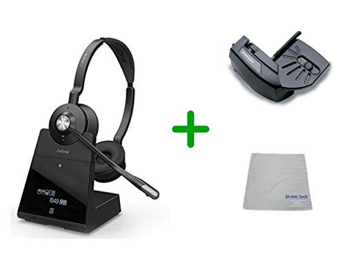 Cisco Compatible Jabra Engage 75 Wireless Headset Bundle with Lifter, 9559-583-125-CIS-B | For Cisco Deskphones, Bluetooth Phones, PC/MAC - Cisco Models:  6901, 6911, 6921, 6941, 6961, 7902, 7905, 7911, 7912, 7931, 7940G, 7941 7960, 7961 ,7970,  7970G, 7971G