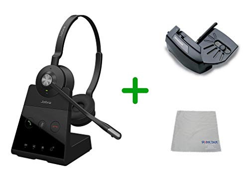 Cisco Compatible Jabra Engage 65 Wireless Duo Headset Bundle with Lifter, 9559-553-125-CIS-B | For Cisco Deskphones and PC/MAC - Cisco Models:  6901, 6911, 6921, 6941, 6961, 7902, 7905, 7911, 7912, 7931, 7940G, 7941 7960, 7961,7970, 7970G, 7971G