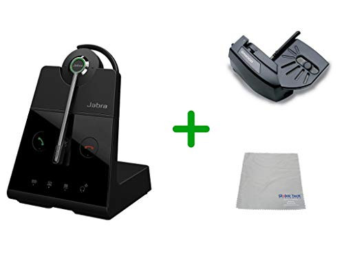 Cisco Compatible Jabra Engage 65 Wireless Mono Headset Bundle with Lifter, 9553-553-125-CIS-B | CFor Cisco Deskphones and PC/MAC - Cisco Models:  6901, 6911, 6921, 6941, 6961, 7902, 7905, 7911, 7912, 7931, 7940G, 7941 7960, 7961 ,7970,  7970G, 7971G