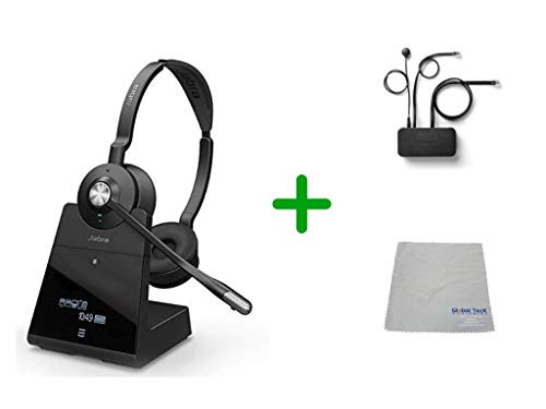 Avaya Compatible Jabra Engage 75 Wireless Headset Bundle with EHS Adapter, 9559-583-125-AVA35 | Avaya Deskphones, Bluetooth Phones, PC/MAC - Compatible Models: J169, J179, 1608, 1616, 1608, 1616, 9620, 9630, 9640, 9650 | 13-hour Battery