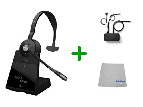 Avaya Compatible Jabra Engage 75 Wireless Mono Headset Bundle with EHS Adapter, 9556-583-125-AVA35 | For Avaya Deskphones, Bluetooth Phones, PC/MAC - Compatible Models: J169, J179, 1608, 1616, 1608, 1616, 9620, 9630, 9640, 9650 | Busy Light