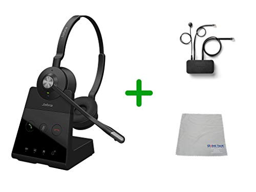 Avaya Compatible Jabra Engage 65 Wireless Duo Headset Bundle with EHS Adapter, 9559-553-125-AVA35   For Avaya Deskphones and PC/MAC - Compatible Models: J169, J179, 1608, 1616, 1608, 1616, 9620, 9630, 9640, 9650   Busy Light