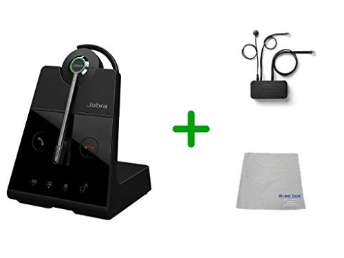 Avaya Compatible Jabra Engage 65 Wireless Convertible Headset with EHS Adapter, 9555-553-125-AVA35 | Avaya Deskphones and PC/MAC - Compatible Models: J169, J179, 1608, 1616, 1608, 1616, 9620, 9630, 9640, 9650 | Busy Light