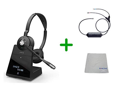 Avaya Compatible Jabra Engage 75 Wireless Headset Bundle with EHS Adapter, 9559-583-125-AVA33 | Avaya Deskphones, Bluetooth Phones, PC/MAC - Compatible Models: 1403, 1408, 1416, 9404, 9408, 9410, 9504, 9508, 9608, 9611-G, 9621G , 9624, 9641G, 9641GS| 13-hour Battery