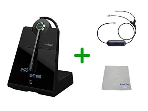 Avaya Compatible Jabra Engage 75 Wireless Headset Bundle with EHS Adapter, 9555-583-125-AVA33 | Avaya Deskphones, Bluetooth Phones, PC/MAC - Compatible Models: 1403, 1408, 1416, 9404, 9408, 9410, 9504, 9508, 9608, 9611-G, 9621G , 9624, 9641G, 9641GS | 9-hour battery