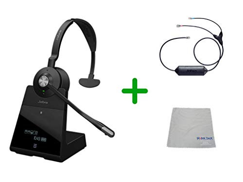 Avaya Compatible Jabra Engage 75 Wireless Mono Headset Bundle with EHS Adapter, 9556-583-125-CIS | For Avaya Deskphones, Bluetooth Phones, PC/MAC - Compatible Models: 1403, 1408, 1416, 9404, 9408, 9410, 9504, 9508, 9608, 9611-G, 9621G , 9624, 9641G, 9641GS | Busy Light