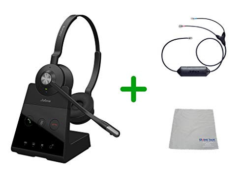 Avaya Compatible Jabra Engage 65 Wireless Duo Headset Bundle with EHS Adapter, 9559-553-125-AVA33 | For Avaya Deskphones and PC/MAC - Compatible Models: 1403, 1408, 1416, 9404, 9408, 9410, 9504, 9508, 9608, 9611-G, 9621G , 9624, 9641G, 9641GS | Busy Light