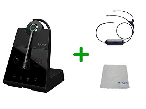 Avaya Compatible Jabra Engage 65 Wireless Convertible Headset with EHS Adapter, 9555-553-125-CIS | Avaya Deskphones and PC/MAC - Compatible Models: 1403, 1408, 1416, 9404, 9408, 9410, 9504, 9508, 9608, 9611-G, 9621G , 9624, 9641G, 9641GS | Busy Light