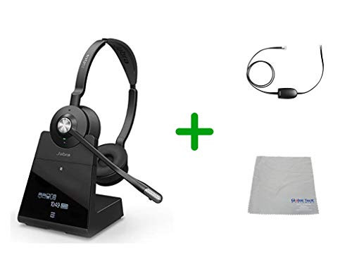Avaya Compatible Jabra Engage 75 Wireless Headset Bundle with EHS Adapter, 9559-583-125-AVA19 | Avaya Deskphones, Bluetooth Phones, PC/MAC - Compatible Models: 4610SW, 4620, 4620SW, 4621SW, 4622SW, 4630SW, 4626, 4630 IP, 5420, 5610, 5620, 5621 | 13-hour Battery