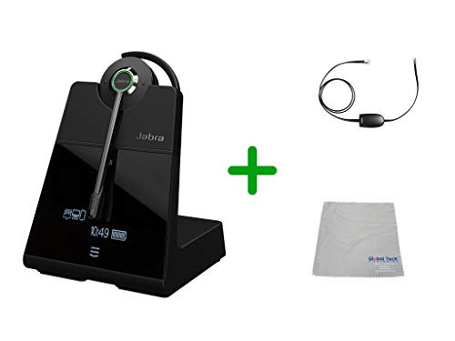 Avaya Compatible Jabra Engage 75 Wireless Headset Bundle with EHS Adapter, 9555-583-125-AVA19 | Avaya Deskphones, Bluetooth Phones, PC/MAC - Compatible Models: 4610SW, 4620, 4620SW, 4621SW, 4622SW, 4630SW, 4626, 4630 IP, 5420, 5610, 5620, 5621 | 9-hour battery