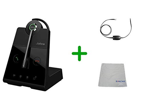 Avaya Compatible Jabra Engage 65 Wireless Convertible Headset with EHS Adapter, 9555-553-125-AVA19 | Avaya Deskphones and PC/MAC - Compatible Models: 4610SW, 4620, 4620SW, 4621SW, 4622SW, 4630SW, 4626, 4630 IP, 5420, 5610, 5620, 5621 | Busy Light
