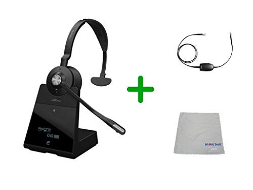Avaya Compatible Jabra Engage 65 Wireless Mono Headset Bundle with EHS Adapter, 9553-553-125-AVA19 | Avaya Deskphones and PC/MAC - Compatible Models: 4610SW, 4620, 4620SW, 4621SW, 4622SW, 4630SW, 4626, 4630 IP, 5420, 5610, 5620, 5621 | Busy Light