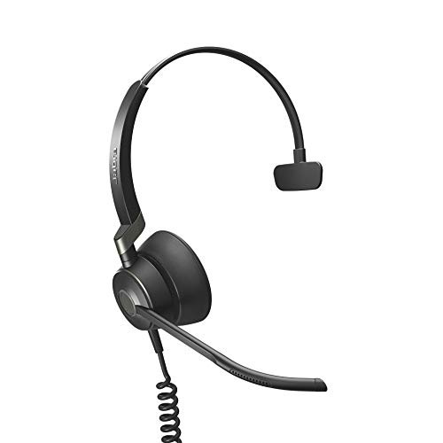 Jabra Engage 50 Mono Headset - PC/MAC, USB Desk Phones | Compatible with Select USB Phones - Polycom, Yealink, Cisco Jabber, Mitel MiVoice, RingCentral - Cleaning Cloth