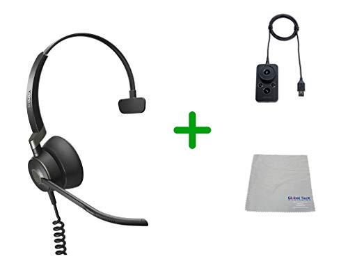 Jabra Engage 50 Headset USB-A, UC Version Audio Controller - PC/MAC, USB Desk Phones with Cleaning Cloth | Compatible with Select USB Phones - Polycom, Yealink, Cisco Jabber, Mitel MiVoice, RingCentral