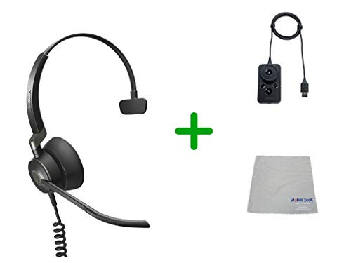 Jabra Engage 50 Headset USB-A, Microsoft Skype  Version Audio Controller - PC/MAC, USB Desk Phones with Cleaning Cloth