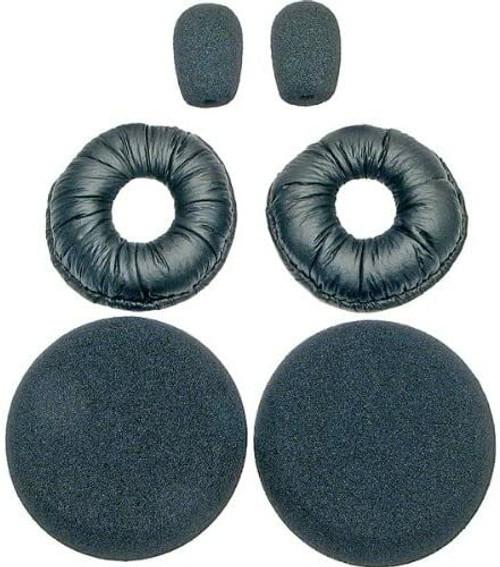 Blue Parrot Headset Accessories Kit 6pc - BlueParrot B250-XT, XTS and VXI Passport Headsets | Includes 2 Leatherette Ear Cushions, 2 Foam Ear Cushions, 2 Foam Microphone Windscreen Covers