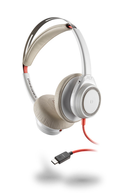 Plantronics Blackwire Duo 7225 USB-C PC Headset | Certified for Skype for Business and Optimized for Microsoft Lync | Built for UC applications and softphones from Avaya, Cisco and others | White version |211155-01