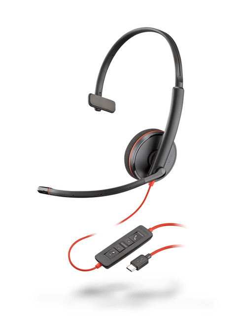 Plantronics Blackwire C3210 Mono USB-A Headset   Certified for Skype for Business and Optimized for Microsoft Lync   Built for UC applications and softphones from Avaya, Cisco and others   Black version  209744-101