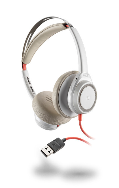 Plantronics Blackwire 7225 Duo USB-A Headset | Certified for Skype for Business and Optimized for Microsoft Lync | Built for UC applications and softphones from Avaya, Cisco and others | White version | 211154-01