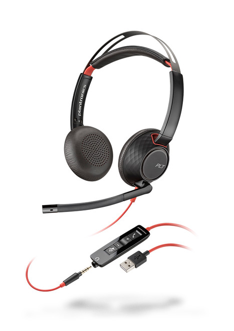 Plantronics Blackwire C5220 Mono USB-A 3.5m QD Headset   Certified for Skype for Business and Optimized for Microsoft Lync   Built for UC applications and softphones from Avaya, Cisco and others   207576-01
