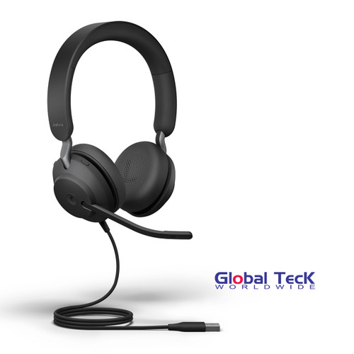 Jabra Evolve2 40 USB-C Stereo Wired Headset | MS Version | Compatible with Windows PC, MAC, Smartphone, Streaming Music, Skype, IP Communications | 24089-999-899