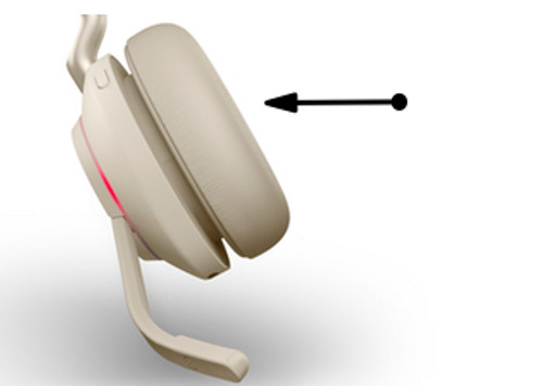 Premium Spare Leatherette (6 pcs) Beige Ear cushions for Jabra Evolve2 65 MS Mono, 65 MS Stereo, 65 UC Mono, 65 UC Stereo | 14101-78