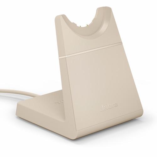 Jabra Evolve2 65 USB-A Deskstand (Beige Color) | Compatible with Jabra Evolve2 65 MS USB-A Mono, 65 MS USB-A Stereo, 65 UC USB-A Mono, 65 UC USB-A Stereo | 14207-61