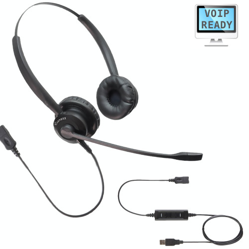 PC USB Computer Headset for Microsoft and MAC computers and laptops