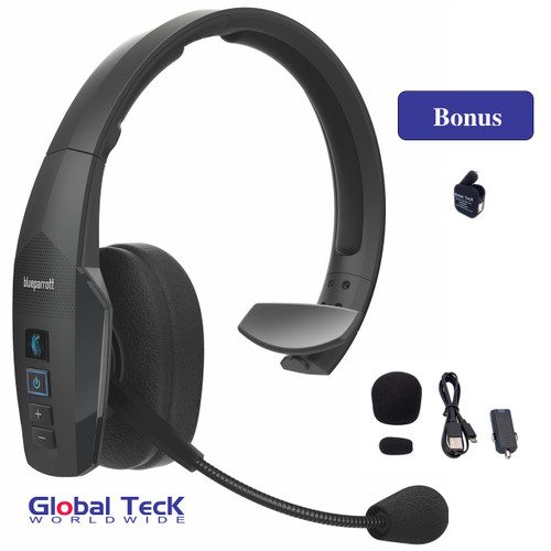 BlueParrott B450-XT Bluetooth Headset - Water, Dust proof - IP54 Rated - Priority Tech Support Plan and Wall Charger Included | NFC enabled #204270