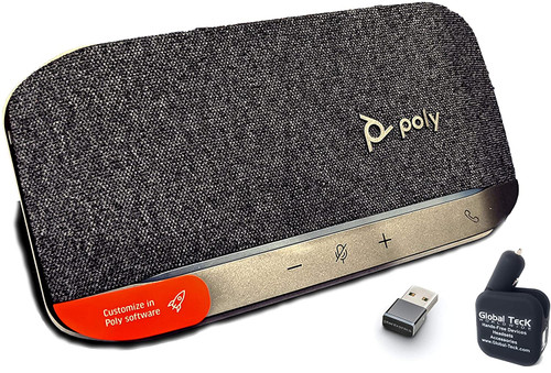 Global Teck Poly SYNC 20+ USB-A Bluetooth Speakerphone w/dongle and Bonus Charger