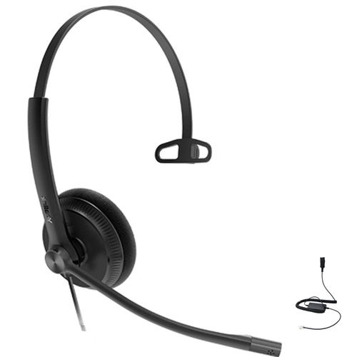 Yealink YHS34 Lite Mono Wired Headset (Lite), Connects to Deskphone, PC/Mac, Softphones - Works with Teams, Zoom, RingCentral, 8x8, Vonage,