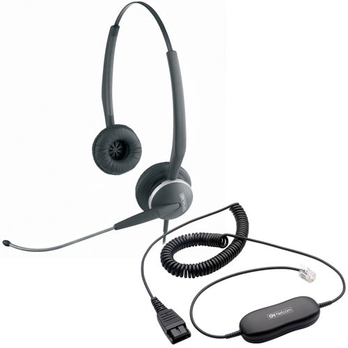 Jabra GN2115ST Direct Connect Headset | Use with Cisco, Polycom, Mitel, Nortel, Yealink, Toshiba, NEC