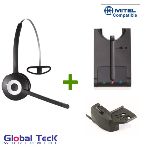 Mitel compatible Jabra PRO 920 Bundle Wireless Headset, 920-65-508-105-B