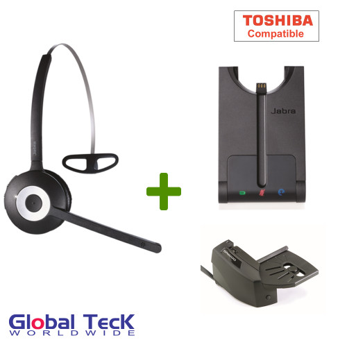 Toshiba compatible Jabra PRO 920 Bundle Wireless Headset System, 920-65-508-105-B