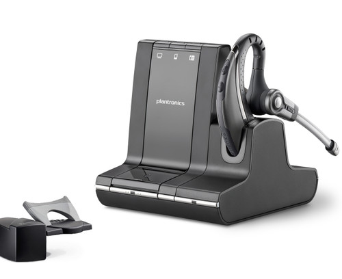 Savi W730 Bundle - PC/Mac, Mobile/Tablet and Desk Phone Wireless Headset (includes Remote Answerer - HL10 Lifter)