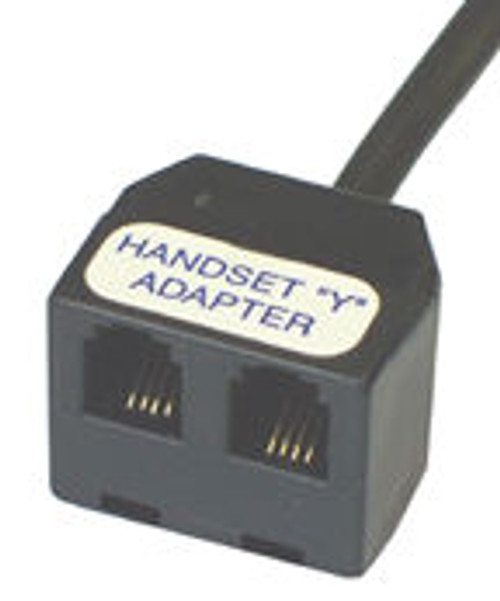 Handset Y-Adapter | Splitter connects 2 devices into Telephone's Handset jack