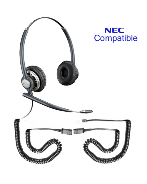 NEC compatible Plantronics Encore PRO Duo Wideband Headset